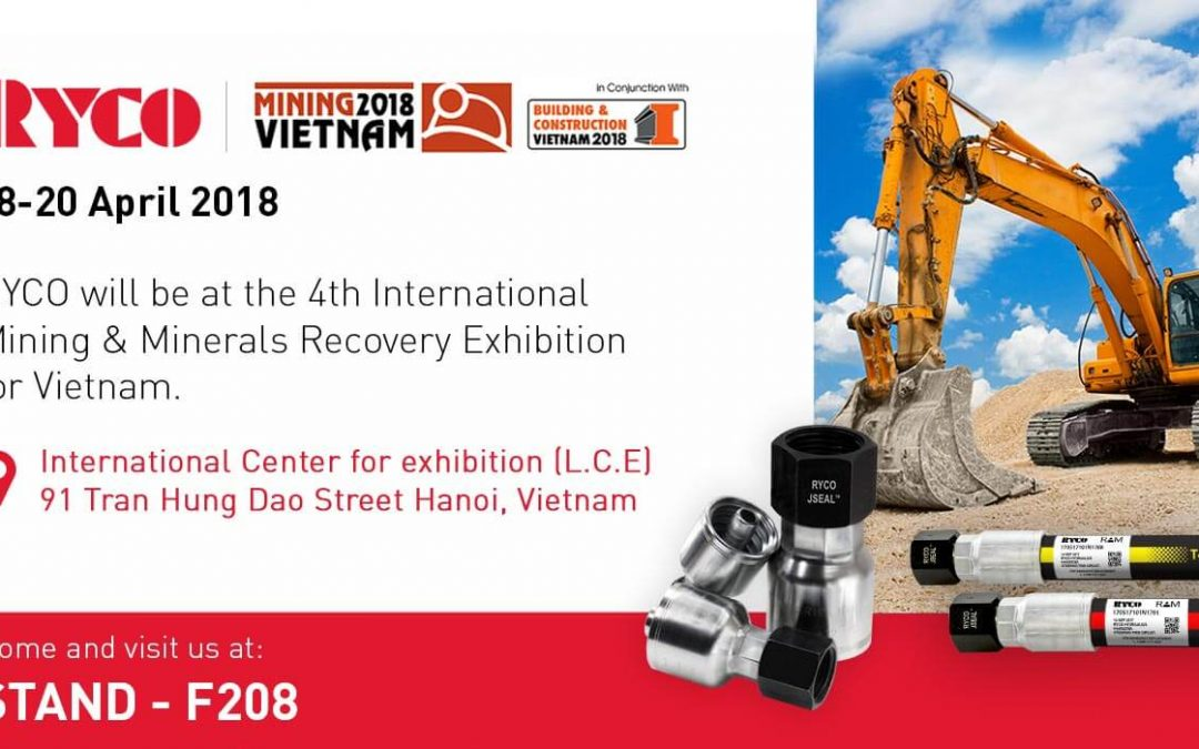 RYCO to exhibit at the Mining & Minerals Recovery Exhibition for Vietnam