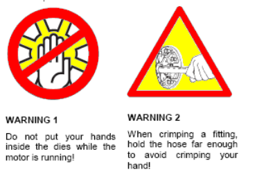 RYCO Crimper Machines Safety Warning