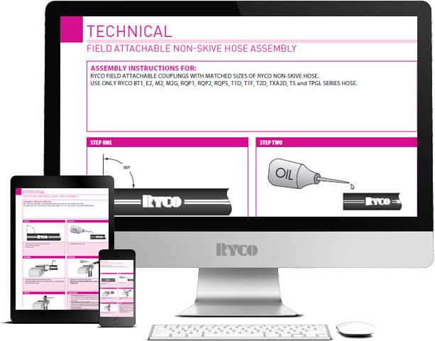 RYCO field attachable non skive