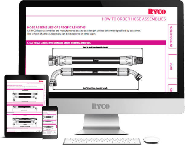 RYCO how to order hose assembly