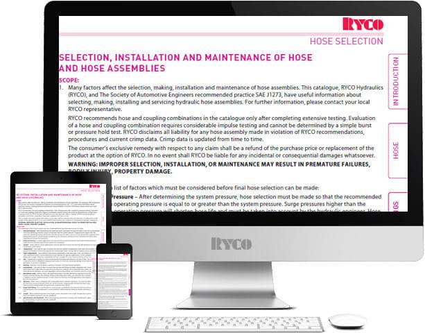 RYCO Hose selection
