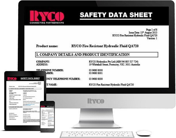 RYCO Material Safety Datasheets MSDS