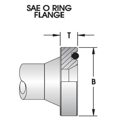 SAE O Ring Flange 01