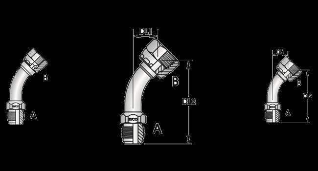 45º Tube Bend Female x Female